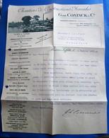 MAISON LAFFITTE CHANTIER CONSTRUCTIONS NAVALES G.de CONINK  NOTE à M. CANAPLE LETTRE ENTÊTE Facture Document Commercial - Frankrijk