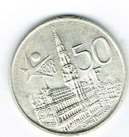 Belgique 50fr Argent - Belgien