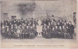 34. MONTPELLIER. (1er Décembre 1912) Groupe Du Bi-Centenaire De L'Abbé De L'Epée (1) - Montpellier
