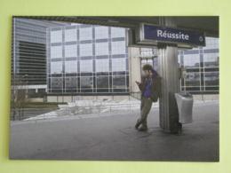 RATP - Quai Du RER / Métro - Réussite - Paris - Carte Publicitaire émise Pour Les Voeux 2008 De La RATP - Subway