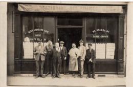 RESTAURANT DES PRAIRIES  C.1921 ! Devanture Magasin  Carte Photo Vin Liqueur Bière Café Paris 18e ?! - Cartes Postales