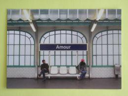 RATP - Quai Du Métro Paris - Amour - Carte Publicitaire émise Pour Les Voeux 2008 De La RATP - Subway