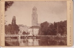 F.W.H. DEUTMANN ZWOLLE  VUE DE ZWOLLE  NEDERLAND HOLLAND 16*10CM Cabinet  Photograph - Fotos