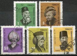 Turkey 1967 - Mi. 2053-57 O, Famous And Great Turkish Personalities (4th/4 Issue) - 1921-... République