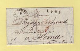 Valenciennes - 57 - Nord - 9 Fevr 1831 - Destination Belgique - 1801-1848: Vorläufer XIX