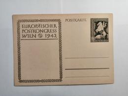 Deutsches Reich  Postkarte Europaischer Postkongress Wien 1942 - Allemagne