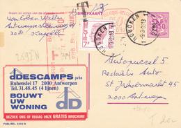 B11 - Entier Postal - Carte Publibel N° 2591 N - D Descamps Construction + 0,50c P010 Malines - Taxe P2113 - Voir Photo - Publibels
