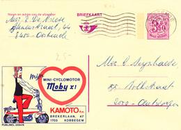 B11 - Entier Postal - Carte Publibel N° 2594 N - Cyclomoteur Moby X1 - Kamoto à Kobbegem + 0,50c P010 - Voir Photo Pour - Publibels