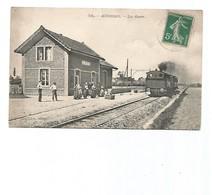 Aubers-la Gare-SUPERBE Et Rare-carte Voyagée-le 06-09-1911-ligne Michon - Other Municipalities