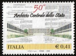 2003Italy2910Architecture / 50th Anniversary Of The State Archives - 1946-.. République