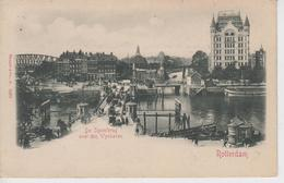 CPA Précurseur Rotterdam - De Spoorbrug Over Den Wynhaven (avec Animation) - Rotterdam