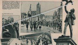 ROESELARE..1932.. DE RODENBACH-HERDENKING TE ROESELARE / DR. BRUWIER HOUDT ZIJN REDE - Non Classificati