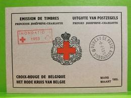 Belgique, Carnet Croix-Rouge 1953. Complet Inondations - Carnets 1953-....