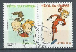 France YT N°3877+3878 Fête Du Timbre Spirou Et Fantasio (Paire Se-tenant) Oblitéré ° - France