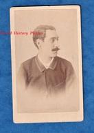 Photo Ancienne CDV Avant 1900 - TOURS - Portrait De Profil , Homme Notable - Photographe J. Dubois - Moustache Pose Mode - Anciennes (Av. 1900)