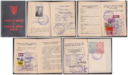 TIMBRES FISCAUX : 16 TIMBRES Sur PERMIS DE PÊCHE / FISHING CINDERELLA - ROUMANIE / ROMANIA : 1983-1998 - RARE ! (ad990) - Revenue Stamps