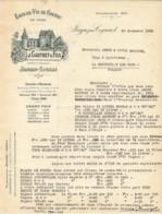 Lettre Dactylographiée De L'Eaux De Vie De Cognac En Gros JULES GAUTRET Et FILS à JONZAC Et Du 30 Novembre 1934 - France