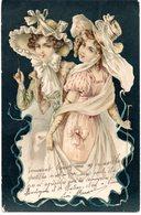 CPA  -  Deux  Femmes Avec Magnifiques Chapeaux    - écrite - Women