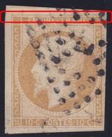N°13A Variété Suarnet 43 (1963) Forte Cassure Cartouche Supérieur Donnant Un écart Plus Important Avec Le Filet TB Et RR - 1853-1860 Napoleon III