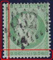 N°20 Deux Filets Absents, Oblitéré GC 532A, RR Et TB - 1862 Napoleon III