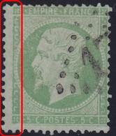 N°20 Filet Gauche Complètement Absent, Bien Visible, Pas Courant Et TB. - 1862 Napoleon III