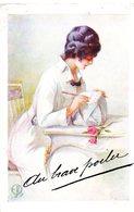 CPA  -    Femme - Lettre Au Poilu   -  écrite - Women