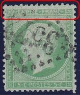N°20 Filet Supérieur Absent, Impression Très Dégradée En Haut, RR Et TB - 1862 Napoleon III