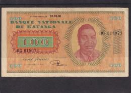 Katanga 100 Fr 1960 VF - Autres - Afrique