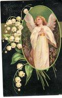 CPA  -  Ange Avec Brins De Muguet - Joyeuses Pâques - Easter