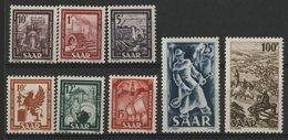 SARRE Cote 95 € N° 255 à 262. Série Complète De 8 Valeures Neuves ** (MNH). TB - 1947-56 Occupazione Alleata