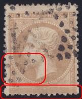 N°21 Cartouche Inférieur Complètement Obstrué Et Trace D'un Fil Blanc Sur L'effigie, TTB Et RRRR - 1862 Napoleon III