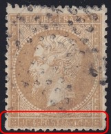 N°21 Cartouche Inférieur Quasiment Illisible, Spectaculaire, TB - 1862 Napoleon III