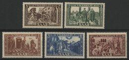 SARRE Cote 80 € N° 278 à 282. Série Complète De 5 Valeurs Neuves ** (MNH). TB - 1947-56 Occupazione Alleata