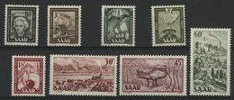 SARRE Cote 75 € N° 283 à 290. Série Complète De 8 Valeurs Neuves ** (MNH). TB - 1947-56 Occupazione Alleata