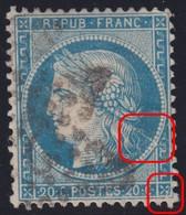N°37 Deux Belles Griffes Blanches Dont Une Très Importante, TB Et RRR - 1870 Siege Of Paris