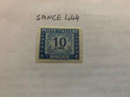 Italy Segnatasse 10L Mnh 1947 - 6. 1946-.. Republic