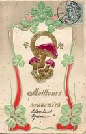 Bonne Année 806, Champignons Trèfles Gaufré - Nouvel An