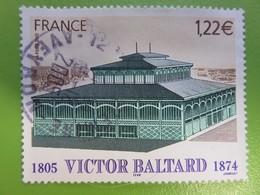 Timbre France YT 3824 - Victor Baltard - Achitecte De La Ville De Paris - Le Pavillon Baltard - 2005 - Cachet Rond - Used Stamps