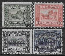 Italia Italy 1910 Eritrea Soggetti Africani D13 Sa N.34-37 Completa US - Eritrea