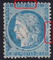 N°37 Variété Suarnet 13, Deux Très Grosse Déformations Filets Et Cartouches, Position 10D1, RRRRR Et TB - 1870 Siege Of Paris