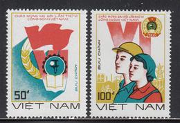 1988 Vietnam Trade Unions Labour  Complete Set Of 2 MNH - Vietnam