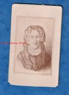 Photo Ancienne CDV Vers 1890 - Portrait D'une Femme à Identifier - Peinture ? Gravure ? Signé G. Gredelue - Anciennes (Av. 1900)