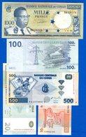 Congo  Ex  Belge  5  Billets - Congo