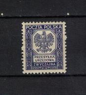 POLEN , Poland , 1935 , ** , MNH , Postfrisch , Mi.Nr. 19 ,   Dienstmarke - Officials