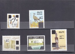 Stamps SUDAN 2019 DEFINITIVE ORDINARY 8th SERIES SURCHARGED HIGH VALUES SET MNH - Soudan (1954-...)