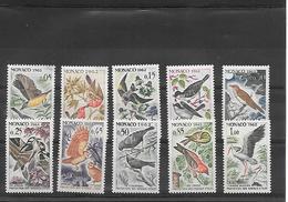 Monaco    Serie Oiseaux     10 Timbres ** - Mónaco