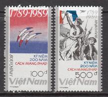 1989 Vietnam French Revolution Complete Set Of 2 MNH - Vietnam