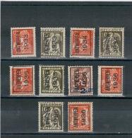 1933 - 34 - 35 - 36 - Préoblitérés ANTWERPEN - ANVERS - Typo Precancels 1932-36 (Ceres And Mercurius)