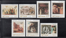1989 Vietnam PhilexFrance Art Paintings Complete Set Of 7 MNH - Vietnam