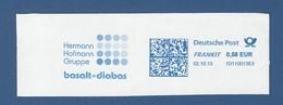Deutsche Post FRANKIT - 0,58 EUR 2013 - 1D110013E3 - Hermann Hofmann Gruppe - Basalt Diabas - Marcofilia - EMA ( Maquina De Huellas A Franquear)